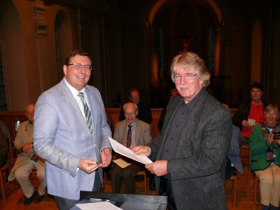 2013 Orgelbau-Vertragsunterzeichnung am 13.10., Pfarrer Jürgen Dolling, Richard Rensch