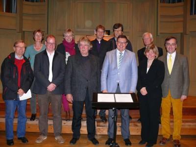 2013 Orgelbau-Vertragsunterzeichnung am 13.10.