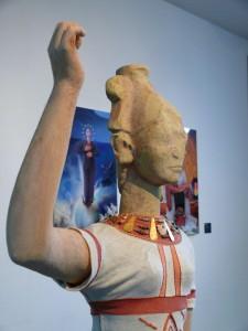 Kopf einer Göttin mit Atef-Krone, ca. 1300-900 v. Chr.
