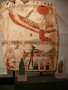 Sarkophagfragment, Bestattung mit klagender Isis, ca. 330-30 v. Chr.