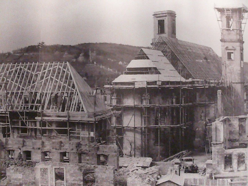 Wiederaufbau Kirche und Dekanat