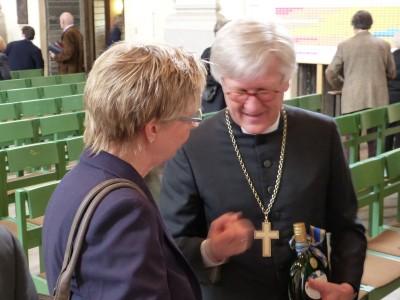Landesbischof Dr. Heinrich Bedford-Strohm, Vertrauensfrau Birgit Engert